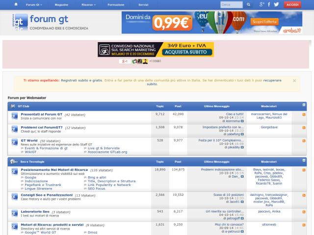 Giorgio Tave Webmaster Forum