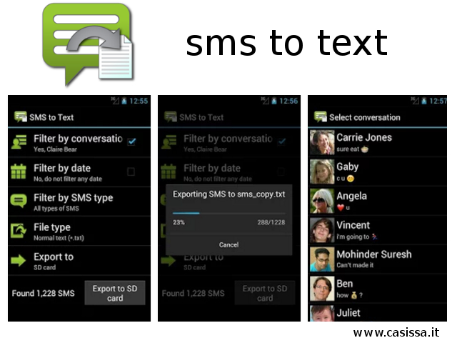 Android Sms to Text